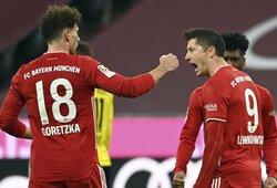 """Vokietijoje – R.Lewandowskio """"hat-trickas"""" ir dviejų įvarčių deficitą panaikinusio """"Bayern"""" pergalė prieš """"Borussia"""""""