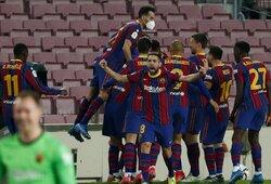 """Dviejų įvarčių deficitą panaikinusi """"Barcelona"""" po pratęsimo žengė į Ispanijos Karaliaus taurės finalą"""
