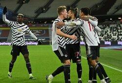 """Pirmąjį rungtynių įvartį praleidęs """"Man Utd"""" nugalėjo """"West Ham Utd"""""""