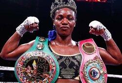 """Dėl 5 pasaulio čempionės diržų kovosianti C.Shields: """"Aš geriausia po M.Ali, 98 proc. vyrų manęs nenugalėtų"""""""