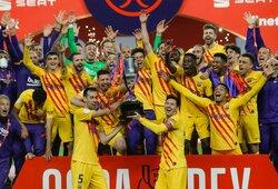 """Per 12 minučių 4 įvarčius pelniusi """"Barcelona"""" iškovojo Ispanijos Karaliaus taurę"""
