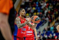 """W.Clyburno vedama CSKA patiesė karjeros mačą sužaidusį T.Dorsey ir """"Olympiacos"""" klubą"""