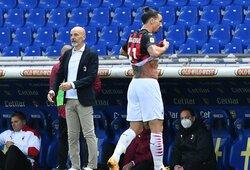 """""""AC Milan"""" treneris apie keistą Z.Ibrahimovičiaus išvarymą: """"Jis tik paklausė teisėjo, ar jam nerūpi jo nuomonė"""""""
