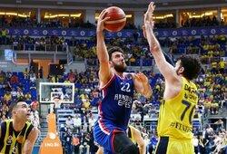 """V.Micičius buvo arti dvigubo dublio, tačiau """"Anadolu Efes"""" šturmą atlaikiusi """"Fenerbahče"""" išlygino finalo serijos rezultatą"""