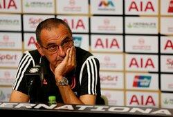 """Su plaučių uždegimu kovojantis """"Juventus"""" treneris M.Sarri praleis pirmus du turus Italijoje"""