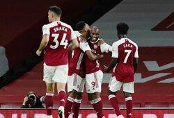 """""""Arsenal"""" 85-ąją minutę išplėšė pergalę prieš """"West Ham Utd"""""""