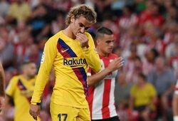 """Netikėtas Ispanijos sezono startas: be L.Messi žaidusi ir dar L.Suarezą praradusi """"Barcelona"""" paskutinėmis minutėmis patyrė pralaimėjimą"""