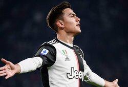"""Po keitimo aikštėje pasirodžiusio P.Dybalos įvartis padovanojo """"Juventus"""" pergalę prieš """"Milan"""", anksti pakeistas C.Ronaldo nuėjo tiesiai į rūbinę"""