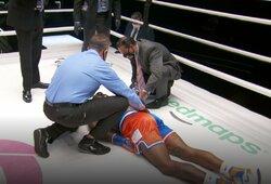N.Robinsonas prabilo po nokauto, profesionalūs boksininkai kovą pavadino gėdinga