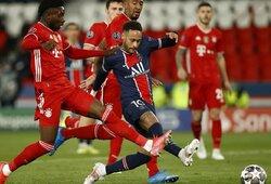 """Čempionų lyga turės naujus čempionus: PSG ketvirtfinalyje iš tolimesnių kovų eliminavo """"Bayern"""""""