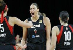 """""""Ji sveria 136 kg"""": WNBA žvaigždei kilogramų """"pridėjęs"""" treneris – suspenduotas"""