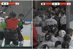 """Lyderių akistatoje – emocijų protrūkis, muštynės už aikštės ribų ir užtikrintas """"Kaunas Hockey"""" triumfas"""