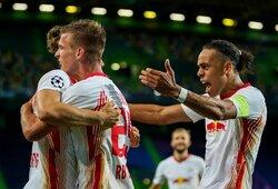 """88-ąją minutę pergalę išplėšęs """"RB Leipzig"""" eliminavo """"Atletico"""" ir pateko į Čempionų lygos pusfinalį"""