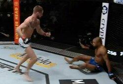Fantastiškas sugrįžimas UFC turnyre: praktiškai į nokautą pasiųstas kovotojas kitame raunde pats nokautavo varžovą