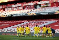 """Nulinės lygiosios Londone atvėrė """"Villarreal"""" duris į Europos lygos finalą"""