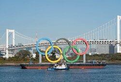 Olimpiniai žiedai sugrįžo į Tokiją, paaiškėjo, kiek kainavo žaidynių nukėlimas