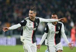 """2 įvarčius pelnęs C.Ronaldo atvedė """"Juventus"""" iki dar vienos pergalės"""