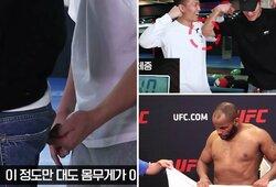 """""""Nežinau, ar galiu apie tai kalbėti"""": Korėjos Zombis atskleidė būdus, kaip kovotojai apgaudinėja svėrimų metu"""