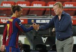 """A.Griezmanno įvartis padovanojo """"Barcelonai"""" pergalę draugiškose rungtynėse"""