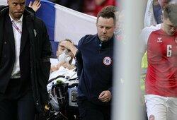 """Atsigavęs Ch.Eriksenas išsiuntė grupinę žinutę """"Inter"""" žaidėjams"""