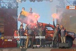 Dakaro ralis: finišo podiumas (tiesioginė vaizdo transliacija)