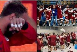 Žūtbūtinėse pasaulio rankinio čempionato rungtynėse – argentiniečių ašaros ir Kataro triumfas