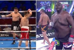 Kovinio sporto įdomybės: iš varžovo besityčiojęs boksininkas pribaigtas ketvirtame raunde, vienas storiausių MMA kovotojų grįžo pergalingai