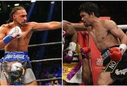 M.Pacquiao prieš K.Thurmaną: bokso žvaigždės pateikė savo prognozes prieš kovą dėl pasaulio čempiono diržo