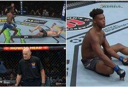 UFC turnyre – nokautas per 7 sekundes, kraupi J.Hillo trauma ir nušalintas teisėjas