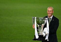 """Z.Zidane'as paaiškino, kodėl į sudėtį neįtraukė G.Bale'o, kalbėjo apie E.Hazardo sveikatą ir būsimą mačą su """"Man City"""""""