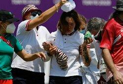 Karštis sukėlė pirmą nelaimę Tokijo olimpiadoje