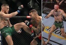 Šiurpiai koją pirmojo raundo pabaigoje susilaužęs C.McGregoras nebegalėjo tęsti kovos