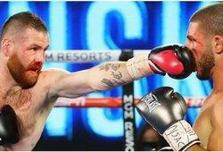 Buvęs UFC kovotojas toliau stebina profesionalų bokso pasaulį: nokautavo dar vieną varžovą