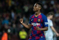 """A.Fati oficialiai tapo pagrindinės """"Barcelonos"""" komandos nariu: įsigaliojo kosminė išpirkos suma"""