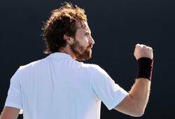"""Australian Open"" staigmena: E.Gulbis eliminavo teniso vunderkindą"