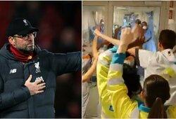 """Pamatykite: """"Liverpool"""" himną uždainavę medikai pravirkdė net J.Kloppą"""