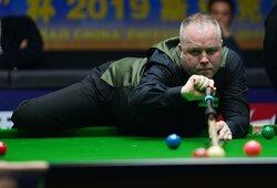 Pasaulio snukerio čempionatas to nematė 8 metus: J.Higginsas sužaidė idealią seriją
