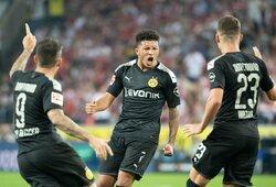 "Įspūdingu šūviu J.Sancho prisidėjo prie antrosios ""Borussia"" pergalės Vokietijoje"
