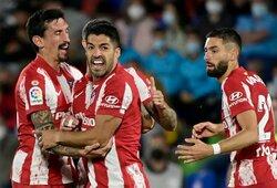 """""""Atletico"""" 90-ąją minutę išplėšė dramatišką pergalę prieš dešimtyje rungtyniauti likusius """"Getafe"""" futbolininkus"""