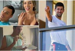 """B.Tomičiaus mergina pirmą kartą gyvenime buvo priversta pati išsiplauti galvą, N.Djokovičius iškėlė 4 reikalavimus """"Australian Open"""" organizatoriams"""
