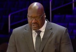 """Sh.O'Nealas nesulaikė ašarų kalbėdamas apie K.Bryantą: """"Praradau savo mažąjį brolį"""""""