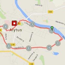 10.08 km. trasa Alytuje