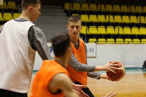 Lietuvos jaunučių vaikinų krepšinio rinktinės treniruotė