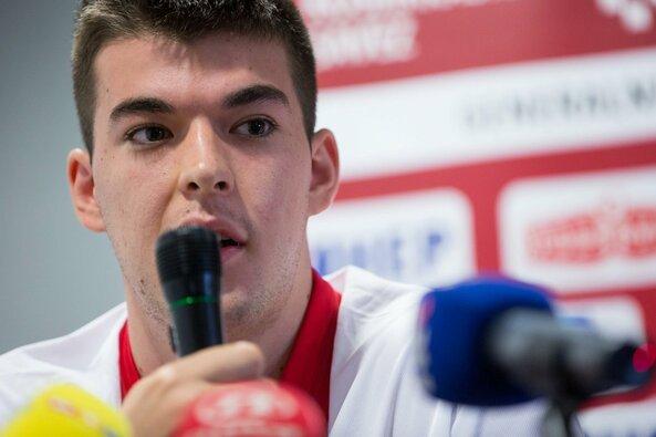 Kroatijos krepšinio rinktinės spaudos konferencija prieš rungtynes su Lietuvos rinktine