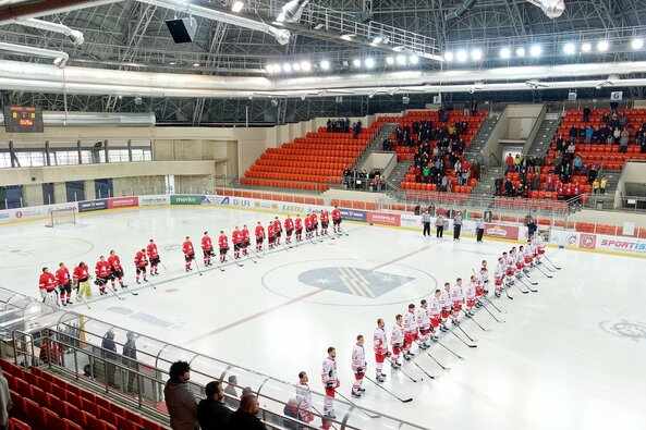 Lietuva –Lenkija rungtynių akimirka