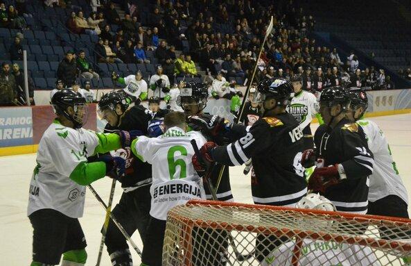 """""""Hockey Punks"""" ir """"Kaunas Hockey"""" rungtynės"""