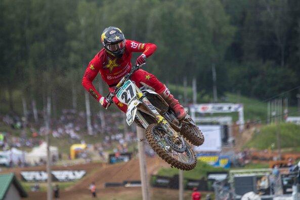 Arminas Jasikonis pasaulio motokroso čempionato etape Latvijoje