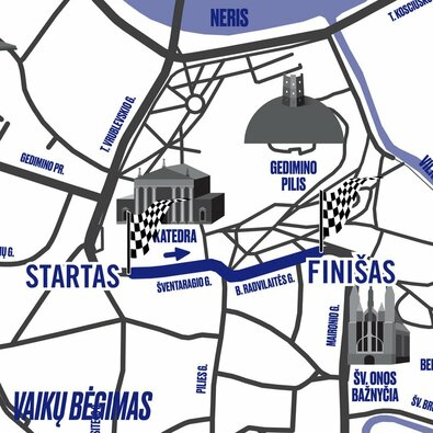 Vienas didžiausių bėgimo renginių Lietuvoje atnaujina bėgimo trasas