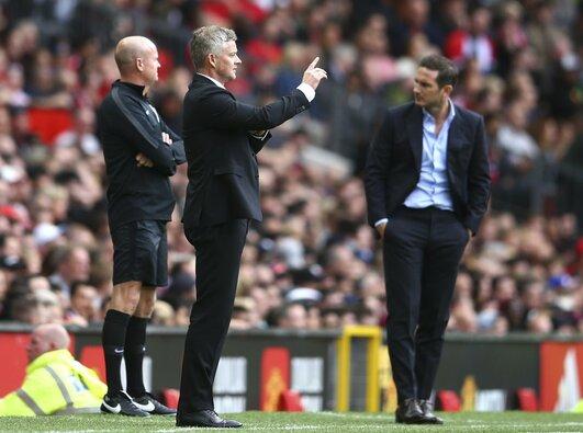 """Manchester United"" ir Londono ""Chelsea"" rungtynių akimirka"