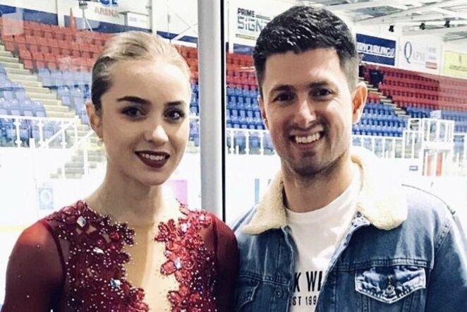 Aleksandra Golovkina ir Dave'as Richardsonas | Organizatorių nuotr.